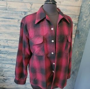 👣Vintage Wool Flannel Button Up Korea